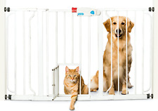 New listing Carlson Extra Wide Walk Through Pet Gate with Small Pet Door, Includes 4-Inch 4