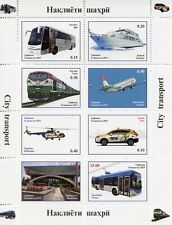 Tajikistan Transport Stamps 2019 MNH Aviation Cars Trains Helicopters 8v M/S