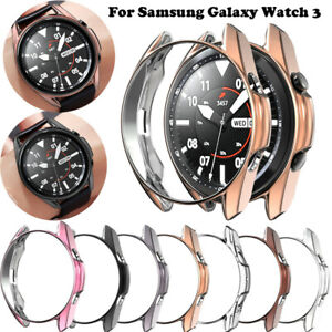 Electroplating TPU Watch Case Cover Guard for Samsung Galaxy Watch 3 41mm 45mm