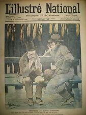 L'ILLUSTRé NATIONAL N° 36 HUMOUR CARICATURE DESSINS GUILLAUME GERBAULT 1903