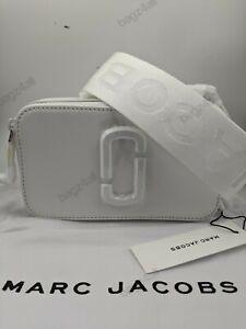 BNWT AUTH Marc Jacobs Snapshot bag moon WHITE Camera Crossbody Dustbag Tags