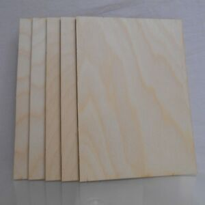 6 X Birch plywood sheets 3mm thick, A6 size, for pyrography, crafts,modelling.