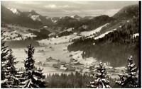 Langenwang bei Oberstdorf Postkarte ~1960/70 Gesamtansicht Talblick im Winter
