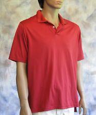 ADIDAS Golf Polo Shirt Sz XL 100% Polyester Breathable ClimaCool Rust Color