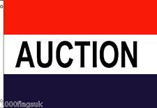 enchères AUCTIONEER Voiture Maison vendre SIGNE Publicité pos 5'X3' DRAPEAU