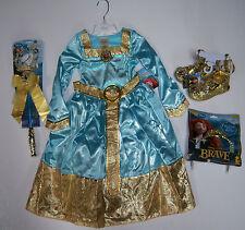 NWT Disney Brave XXS 2/2T-3/3T Merida Formal Costume Dress Wand Shoes & Tiara