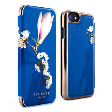 Ted Baker Luxury Floral Mirror Folio Case for iPhones - Navy Harmony Mineral iPhone 8 54083