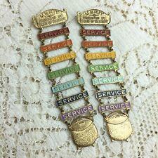 Vintage Masonic Order of Rainbow Girls Merit Service Ladder Pins Youth Award Lot