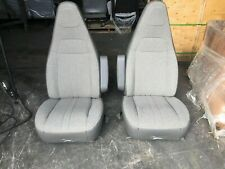 97+ CHEVY GMC EXPRESS SAVANNA VAN BUCKET SEATS GREY CLOTH DRIVER PASSENGER