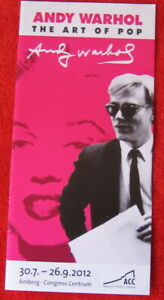 Andy Warhol the Art of Pop 2012 Art exhibition flyer