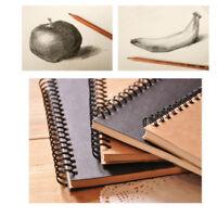 Vintage Notepad Spiral Pad Book Lined Paper Notebook Journal Sketch Hardbound US