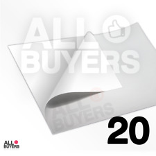 CARTA BIANCA ADESIVA STAMPABILE 20x con Laser e Inkjet - Formato A3 A4