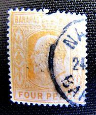 39 FOUR PENCE, ORANGE EDWARD VII USED 1902  (SEE DESCRIPTION)