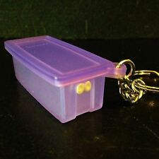 Tupperware Key Chain Purple Fridge Smart Keychain Rare New Purple Lid