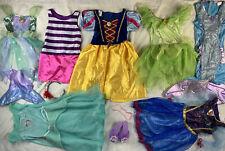 Halloween Disney & Others Princess Dress Up Costume Play Lot sz 4-6X Used