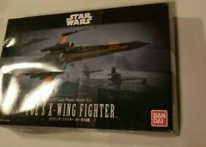 Bandai Star Wars Poe's X-Wing Fighter 1/72 Scale Plastic Model Kit New Disney