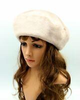Fur hats for women, faux fur hat, beret hat for women, faux fur hats, winter hat