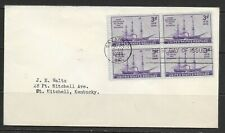 1944 USA FDC 125th anniv. first steamship to cross Atlantic dated 22 May 1944