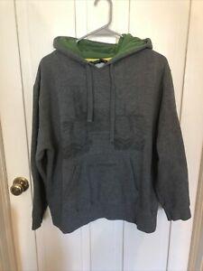 John Deere Tractor Graphic Pullover Gray Hoodie Large Youth