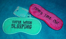 CLAIRE'S MOMS TIME OUT & CUTER WHEN SLEEPING CUSHION SLEEP EYE MASKS BLIND FOLDS
