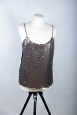 L191/14 Ted Baker Sleeveless Cami StrapShimmering Sequin Top, size L