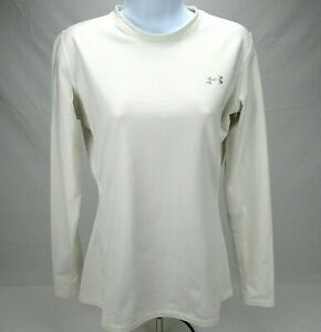 Under Armour Womens Sz L Fitted Cold Gear Pullover Long Sleeve Activewear Shirt