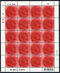 Thailand Stamp 2002 Rose 1st Series FS