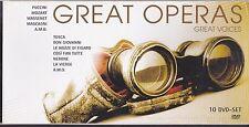 10 Dvd Box Cofanetto «AA.VV. GREAT OPERAS GREAT VOICES~MOZART~MASCAGNI~PUCCINI»