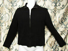 Faconnable Mens Small Full Zip Cotton Jacket Sweater Jacket Black