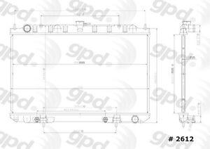 Radiator Global Parts Distributors 2612C