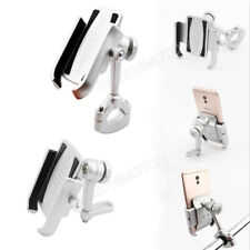 Silver Motorcycle Aluminum Cell Phone Holder Handlebar Mirror Mount for Phone
