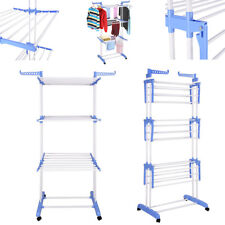Foldable 3 Tier Clothes Airer Outdoor Laundry Tower Dryer Rack Line Hanger Stand