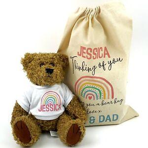 Shine Bright Bear Hug Personalised Teddy Gift