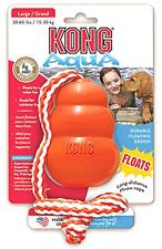 KONG Aqua, Kong Dog Toy Large, Floating Dog Toys, Dog Training Dog Toy with Rope