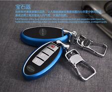 Blue Metal FOB Remote Key Cover Case Shell Fit For INFINITI QX50 FX32 G25 Q70L
