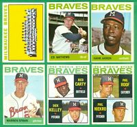 1964 TOPPS MILWAUKEE BRAVES TEAM SET  VG/EX-EX  AARON  SPAHN   PHIL NIEKRO RC