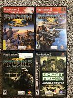 Ps2 Game Lot: Socom, Socom 2,Socom 3, and Ghost Recon: Jungle Storm