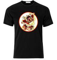 Shazam Cartoon Black T-Shirt - Available M L XL