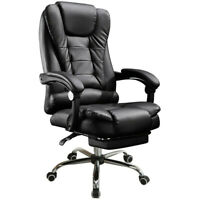 High Back Office Chair Ergonomic Recliner PU Leather Computer Desk Chair Ergono