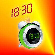 Soundmaster UR140 Grün Radiowecker Uhrenradio mit Projektion, Dimmer und Licht