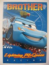 BRILLIANT LIGHTNING MCQUEEN CARS BROTHER ACTIVITY BIRTHDAY GREETING CARD