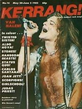 Dave Lee Roth of Van Halen on Kerrang No:16 Cover 1982    The Rolling Stones