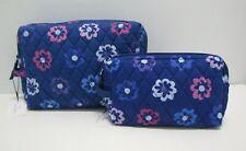 Vera Bradley Ellie Flowers Medium & Large Cosmetic Bags Set Of 2 NWT
