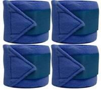 Set Of 4 ROYAL BLUE Fleece Polo/Leg Wraps ! NEW HORSE TACK!