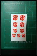 New Autobotos Symbol red White border stickers set for transformers instock