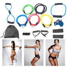 ABS Resistance Bands Fitness Exercise tube home door set Latex Yoga Strap 13PCS