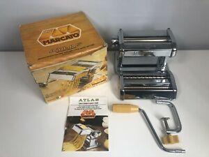 Marcato Atlas Tipo Lusso Chrome Pasta Noodle Maker Model 150 With Box - VGC