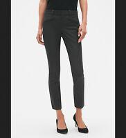 GAP Women Skinny Bi-Stretch Ankle Pants, Dark Charcoal Heather, Sz 18 NWT