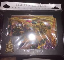 Disney Pin and Litho Castle New Fantasyland Cast Exclusive Rare Gold 2012
