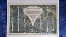 1928 Vintage SELMER CLARINETS Sign/Ad